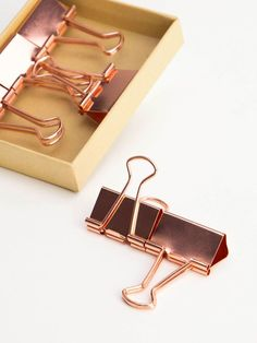 Large Copper Binder Clips, 6 Count U Brands