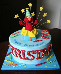 Birthday Cake without Elmo Figures Birthday Cakes II Pinterest