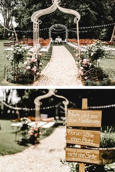 Freie Trauung im Grünen – Elena & Kevin With this sweet Wood sign finds every guest a seating plan. Decorate your location for the free wedding ceremony with pennant chains of lace, flowers and a white wedding arch. White Wedding Arch, Diy Wedding Veil, Wedding Arch Flowers, Free Wedding, Wedding Ceremony, Our Wedding, Wedding Locations, Wedding Events, True Bride