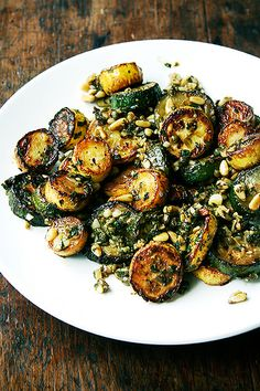 sautéed zucchini with mint, basil and pine nuts by alexandracooks, via Flickr