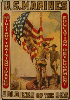 WWI US Marines Poster