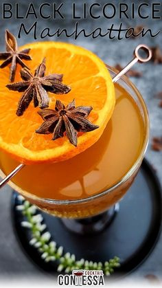Another one for you anise-curious out there – and this Black Licorice Manhattan is one you'll tip back far too easily. It's a strong one, so you've been warned. I wanted to use up some oleo saccharum I'd made a few weeks ago for some other cocktails and was surfing through the Flavor Bible for pairings that might work with the orange citrus from the sugar syrup.   @cocktailcontessa #craftcocktails #Licoricecocktails #manhattancocktail Fruity Alcohol Drinks, Drinks Alcohol Recipes, Cocktail Garnish, Cocktail Recipes, Manhattan Cocktail, Recipe Maker, Chocolate Liqueur, Bourbon Cocktails, Cocktail Ingredients