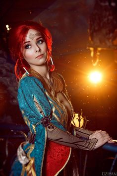 The Witcher 3 - Triss Merigold cosplay by Disharmonica on DeviantArt Triss Merigold Cosplay, Triss Merigold Witcher 3, Triss Cosplay, Anime Cosplay, The Witcher 3, Witcher Art, Rin Tohsaka, Best Cosplay, Awesome Cosplay