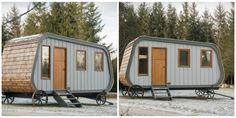 Cabane design caravane pour une vie près de la nature