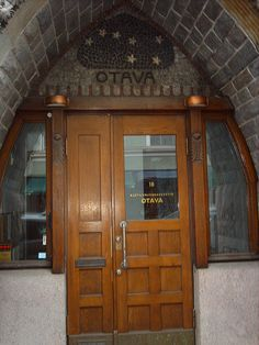 Helsinki Door  Otava (publishers)    Stars of Otava  (Big Dipper, Ursa Major) above door.    In Finland the asterism, the Big Dipper, is known as Otava and is widely used as a cultural symbol. The asterism is sometimes called with its old Finnish name, Otava. The meaning of the name has been almost forgotten in Modern Finnish, but in old Finnish meant a salmon net/weir. (wiki)