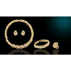 Affordable 4 Piece Gold Wedding Bridal Evening Fashion Jewelry Sets Online SKU-10801036