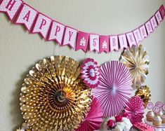 Pretty Pink Princess Banner / Pink and Gold Banner / Princess Banner / Princess Birthday Banner / Pi Pretty Pink Princess, Pretty In Pink, Princess Birthday, Girl Birthday, Pink And Gold, Pink White, Hot Pink, Gold Banner, Party Needs