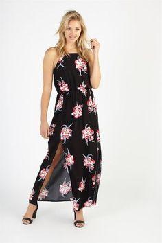 BEAUTIFUL SPLIT MAXI DRESS