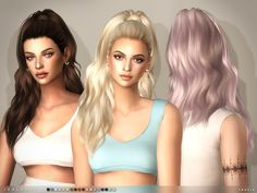 -18 colours Found in TSR Category 'Sims 4 Female Hairstyles'                                                                                                                                                                                 Más
