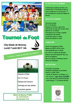 Tournoi de foot des 7-14 ans à Bonnay le 7 août 2017 : http://clun.yt/2t3GN84
