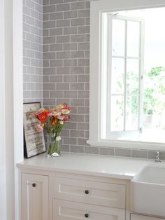 Chic Modernized Interior through Complete Renovation: Traditional Queenslander Renovation Ideas Tile Backsplash White Vanity ~ clarksco.com Interior Design Inspiration