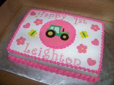 pink john deere cake - Google Search