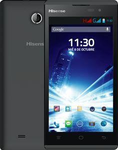 """Hisense HS-U961 (B) Smartphone Android con Procesador Qualcomm, Dual-Core 1.0GHz con 1GB RAM + 8GB ROM. Pantalla Táctil 5"""", Wi-Fi, GPS, Bluetooth, FM. Cámara Trasera 5 MP (FF) con Flash LED y Cámara Delantera 0,3 MP. Batería 2000 mAH, Sensor de Proximidad, Sensor de  luz Ambiente y Acelerómetro. #Hisense #Smartphone"""