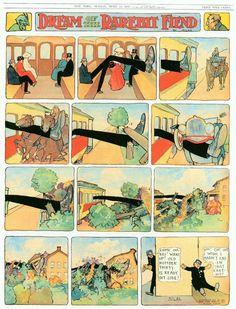 Winsor McCay (1869 – 1934). Dream of the Rarebit Fiend. [Pinned 17-xii-2016]