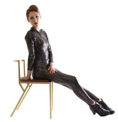 Classic Chair by Andrew McQueen in chrome gold and dark red leather. http://www.andrew-mcqueen.co.uk