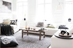 Love the wooden coffee table