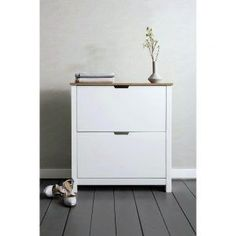 Tromso Shoe Storage Unit 2 Drawer in White and Natural Shoe Cabinet for sale Hallway Shoe Storage, Shoe Storage Unit, Entryway Bench Storage, Shoe Storage Cabinet, Bench With Shoe Storage, Storage Cabinets, Shoe Cupboard, Diy Storage, Small Bench Seat