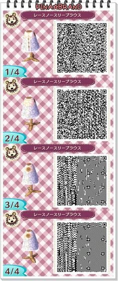 Les qr codes robes : - Animal Crossing New Leaf Motif Acnl, Ac New Leaf, Motifs Animal, Happy Home Designer, Animal Crossing Qr Codes Clothes, Pokemon, A Silent Voice, Animal Games, Sailor Moon