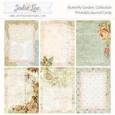 Free Butterfly Garden Printable Pocket Journal Cards - Jodie Lee Designs {store checkout required}