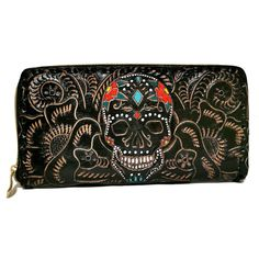 Women's Wallet, Leather, Skull , Handmade , Hand Tooled Leather, Boho, Bohemian, Large, for Cards, Gift for Her by aymxleather on Etsy Leather Tooling, Cowhide Leather, Leather Wallet, Handmade Cosmetics, Wallets For Women Leather, Cosmetic Pouch, Leather Design, Purse Wallet, Zip Around Wallet