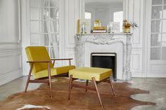 The Fox Footrest is the perfect complement to the Fox Armchair. Put your feet up and enjoy a good book, but be warned – you might just fall asleep. Parisian Apartment, Paris Apartments, Retro Furniture, Parisian Style, Foot Rest, Luxury Interior, How To Fall Asleep, Vintage Designs, Armchair