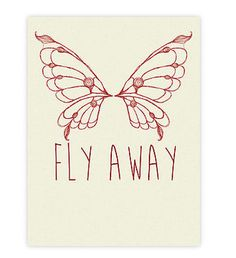 Red Butterfly Fly Away Home Decor Inspirational by GeekChicPrints