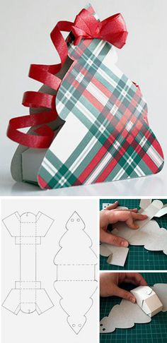 How to make paper gift bags. Click on image to see step-by-step tutorial & sample