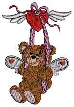 Teddy Loving Design free angels embroidery designs