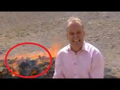 While doing a report on the capture and subsequent burn of a massive amount drugs, BBC Middle East correspondent Quentin Sommerville, stood a little too close to the fire and got so gigglingly high...