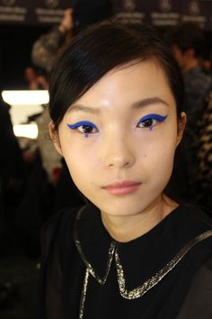 bold '60s cat eye at Anna Sui
