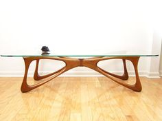 Biomorphic Walnut Coffee Table - Kagan / Pearsall Era, Mid-Century Danish Modern Butterfly