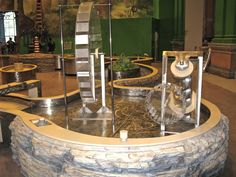 Waterway Play, River Adventures exhibit, Please Touch Museum, Philadelphia, PA, explore water behavior, basic engineering and mechanics, and observation through play and interaction.
