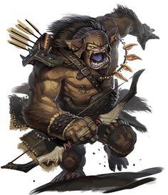 Bugbear (Celtic) - La variante de bogeyman más débil. Estas criaturas patéticas, a diferencia de sus primos más poderosos, tienen pequeñas habilidades mágicas. Se dice que son el cruce de bichoñales y duendes. Simplemente intimidan a las criaturas más débiles, desgarrando su carne y comiendo sus huesos mientras las víctimas observan con dolor son sus aficiones principales. Sirven a menudo como líderes de la guerra en bandas del duende o sirven a bogeymen más de gran alcance. Peligro 6