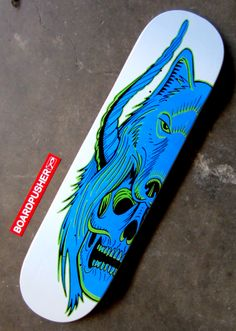 """Today's Featured Deck, """"WolfSkull"""", was designed by Ryan Davis and his Black Dutch Brand. You can pick it up, or check out some more of Ryan's skateboard graphics, at www.BoardPusher.com/shop/blackdutchbrand."""