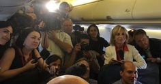 Press On Hillary's Plane Look Like Enraptured Tweens About To Meet Taylor Swift