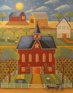 Sunflower Farm Print by Mary Charles