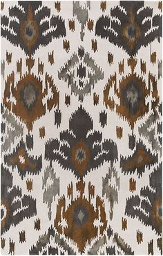 Surya Brown Geology Skylar rug - Contemporary Rectangle x Ikat Pattern, Pattern Design, Paisley Pattern, Rugs Usa, Hand Tufted Rugs, Custom Rugs, Rug Sale, Cool Rugs, Contemporary Rugs