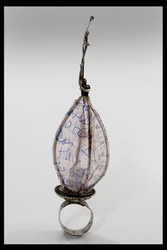 Susan Lenart Kazmer - very cool, sculptural mixed-media ring #art #design