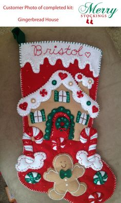 Customer photo of Gingerbread House - just sent in. Thanks! Kit available at MerryStockings.com for $12.99.