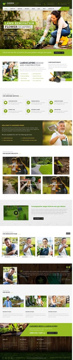 GARDEN CARE – Gardening and Landscaping #WordPress Theme. This theme comes with necessary features for your online presence like projects, blog, testimonial and team page etc. #horticulture