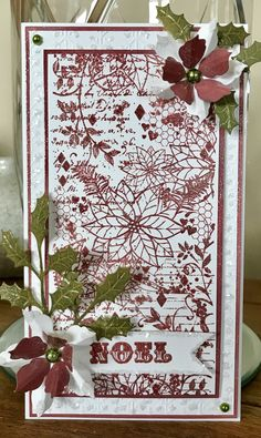 Created with the Poinsettia DL Collage Stamp. Available from www.honeypotcrafts.co.uk