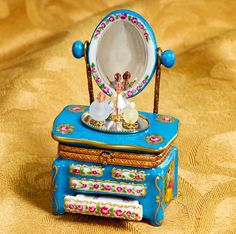 Limoges Louis XV Vanity with Mirror Box - Retail $285.00
