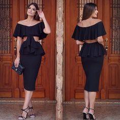 {Little black dress} ❤️ By @zenoficial Vestido maravilhoso!! Apaixonada por essa onde de babados da coleção de verão 😍 São os queridinhos do momento!