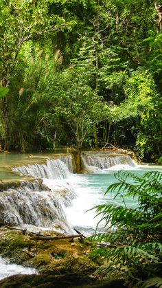 Kuang Si Falls, Luang Prabang. Probably the most beautiful waterfall you've ever seen.