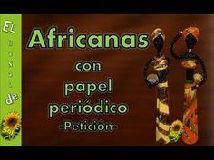 Africanas con papel periódico - petición