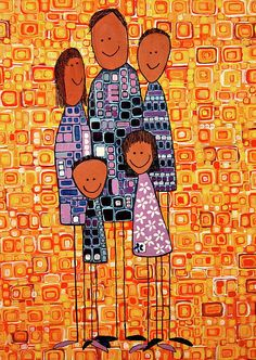 Family Portrait Painting  - Family Portrait Fine Art Print