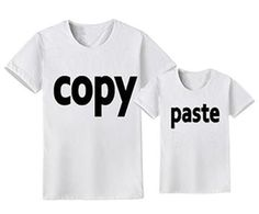 Copy Paste Daddy & Me Shirts – Cece Match Father Son Matching Shirts, Matching Family Outfits, Father And Son, Daddy, Celebrities, Clothes, Tops, Fashion, Outfits