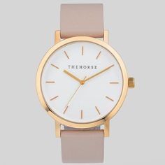 The Horse Watch Polished Rose Gold / Blush Leather