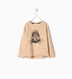 ZARA - KIDS - Shiny owl sweatshirt