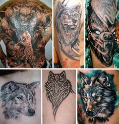 wildlife tattoos | Wildlife Wolf Tattoos Collection